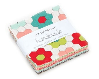 1 pack - Handmade Moda Treat by Bonnie and Camille for Moda Fabrics,  42 3.5 inch squares