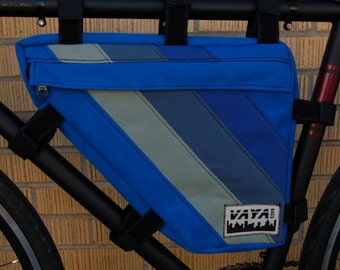 Frame Bag- Blue Striped