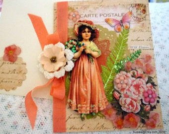 Blank Greeting Card With Envelope Art Card OOAK