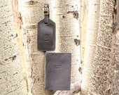 Leather Passport and Luggage Tag Gift Set