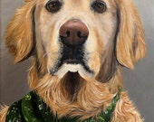 "Pet Painting Hand Painted Canvas Art Custom Portrait Pet Art Dog Art Cat Art Horse Commissioned Art 6"" x 8"" Detailed by Artist Sharon Lamb"
