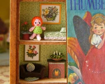 Muffa's - Micro Crochet Thumbelina and her Storybook House