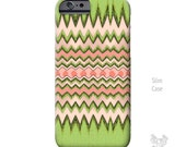 Pink and Green Chevron iPhone 6 case, iPhone 6s Plus Case, iPhone 6s case, iPhone case, BOHO, Note 5 case, Galaxy S6 Case, iPhone 5 case