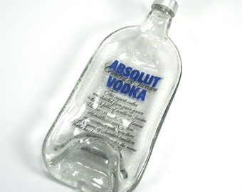 Absolut Vodka Bottle Molded Serving Tray Spoon Rest with Lid - Recycled Eco-Friendly