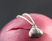 VALENTINE SALE Tiny Fig pendant, Sterling silver, fig jewelry, fruit jewelry