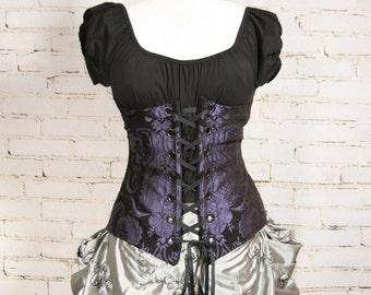 Waist 29-31 Black & Purple Medallion Torian