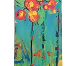 Original acrylic painting, fine art wall decor, impressionist painting, floral abstract painting, hand painted art, botanical art