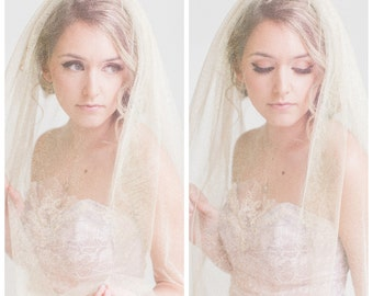 "Shimmering Gold ""Golden Hour"" Veil. The Perfect Vintage Modern Wedding Bridal Accessory."