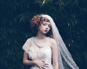 Blushing Rose Crushed Tulle Veil