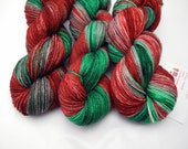 Closer Than You Think - Hand Dyed Yarn - Christmas Yarn - Dyed to Order