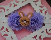Easter Bunny Infant Headband-Purple