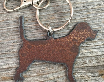 Beagle Christmas Ornament or Key Ring ~ Dog Keychain ~ Pet Key Chain ~ Can be Customized