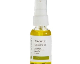 Organic Balancing Cleansing Oil - Facial Cleanser and Make Up Remover for Normal, Combination, and Acneic Skin. All Natural and Vegan.