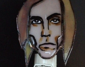 Iggy Pop stained glass Night Light by Glass Action