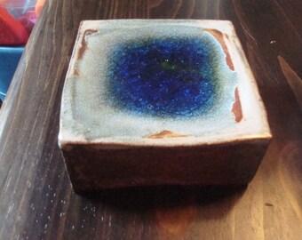 Set of Five Reserved Cobalt Blue Glass 3D Tiles