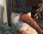 ChristmasinJuly Sale Primitive Snowman Bust ready to ship