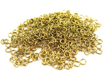 Raw Brass 4mm Round Jump Rings - 16 grams (approximately 450x) (21 gauge) K851-A