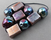 Raku Focal Bead Set