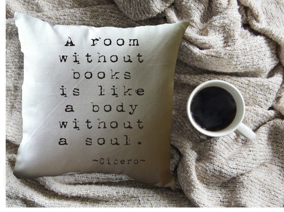 A Room Without Books | Bookish Throw Pillows