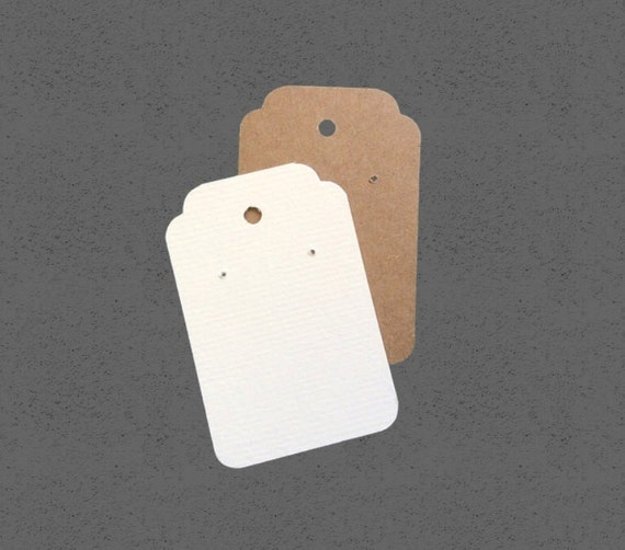 35 Tag Earring cards, post earring cards, custom printed, jewelry display