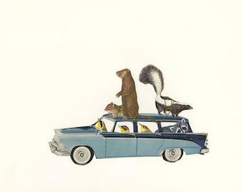 Critter control. Original collage by Vivienne Strauss.