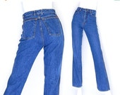 SALE Sz 4 High Waisted Sasson Jeans - 70s to 80s Vintage Women's Slim Fit Straight Leg Mom Jeans - 26 Waist