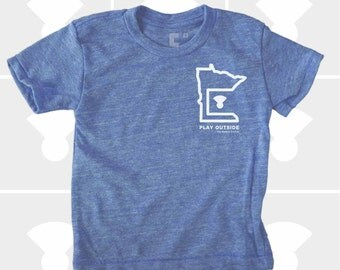 Play Outside | Minnesota Shirt | Boy's TShirt | Minnesota Gift | Minneapolis | Duluth | Gift for Boys | Boys Clothing | St. Paul | MN