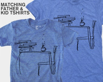 Father Son Matching Shirts, Dad and Baby Matching Shirts, Sunday Morning, Father Daughter Shirts, Literary Gifts, Gift for New Dad, SALE
