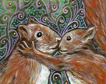 """6x6 inch Archival Print on Wood  """"I Don't Care if You Have Rabies"""""""