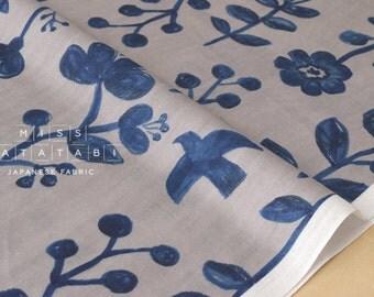 Japanese Fabric Kokka Trefle nature double gauze - C - 50cm