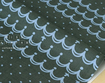 Japanese Fabric Waves - dark green - fat quarter