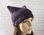 Adult Cat Hat, Cat Ears Hat, Chunky Cat Hat, Pussy Hat, Pussy Cat Hat, Cat Beanie, Chunky Knits, Chunky Knit Hat, Chunky Beanie