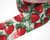 3 Yards Strawberry Fabric Ribbon