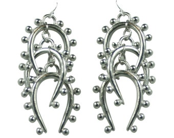 "Triple Beaded ""U""  Earring - Sale"
