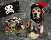 RESERVED Listing (pirate dog hat)