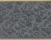 PLUME  Embossed Rubber Texture Tile Mat Stamp for Clay inks  Paint Soap   TTL618