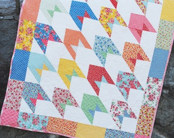 Baby, Lap or Twin QUILT PATTERN....Layer Cake and Fat Quarter Friendly, To the Moon