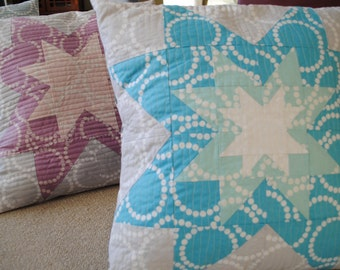 PDF Seeing Stars Patchwork Pillow Pattern, uses Fat Quarters