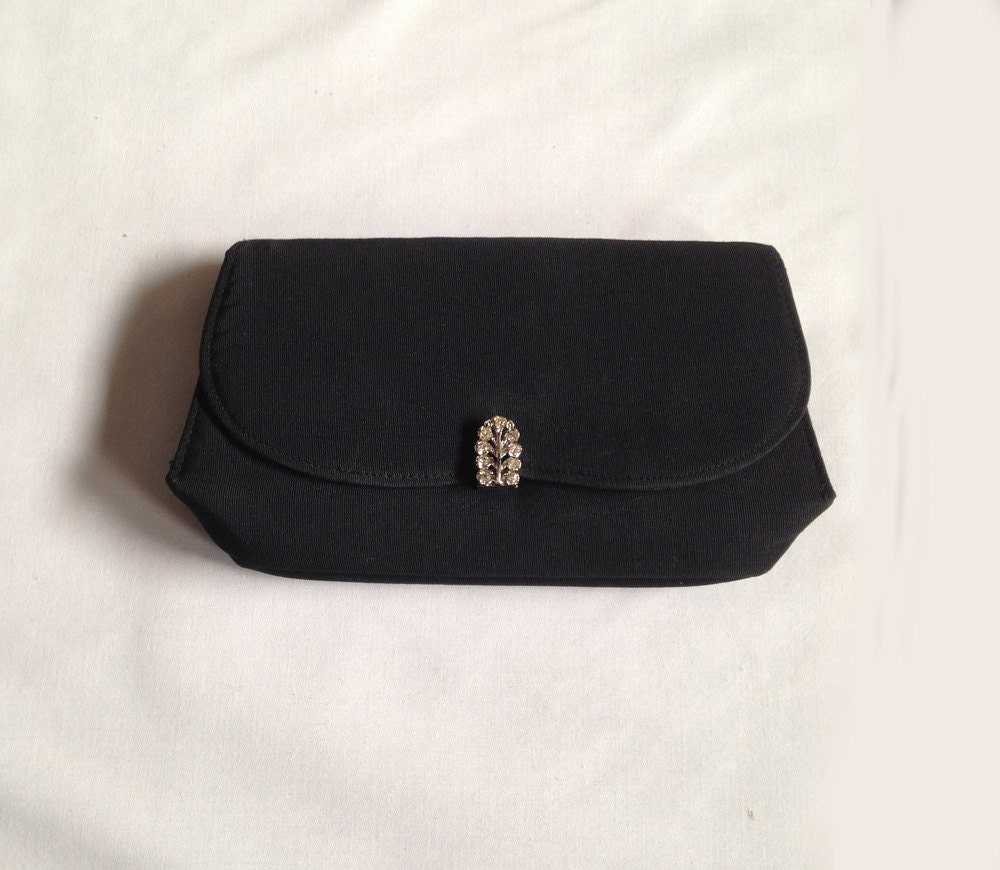 Vintage rhinestone purse evening bag clutch