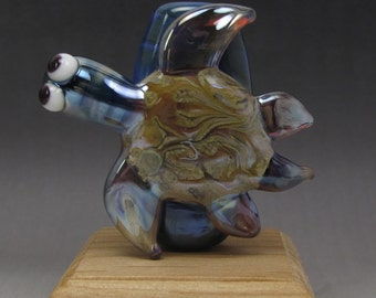 Handmade Lampwork Glass Scroll Focal Bead by Jason Powers SRA