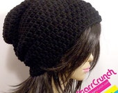 Sale 40% Off Slouchy Beanie Crochet Hat in Black