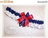 SALE 10% OFF Handmade Wedding Garter Atlanta BravesToss Satin w-nrn