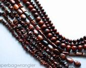 Free Shipping Destash - 8 Strand Lot - Red Tiger Eye Beads Gemstones