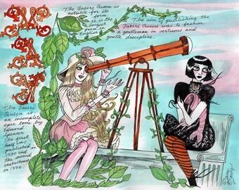 COLOR Dame Darcy, Meat Cake , original art, hand drawn, comix, comics, manga, print, zine, 2017 witchcraft calendar, page art, May