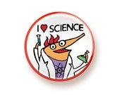 I heart Science - round magnet