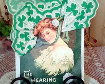 March Wearing of the Green Keepsake Hanky Card