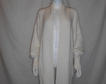 Vintage sweater cover up, over sized cardigan sweater