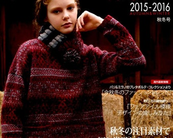 World Crochet and Knit Items Fall & Winter 2015 -  Japanese Craft Book (SAL Economy Airmail)