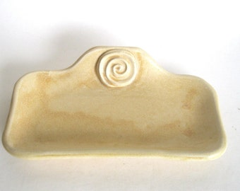 Butter Dish- side handled - Golden Desert Glaze