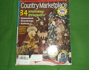Country Marketplace Magazine Winter 2001 Holiday Patterns